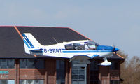 G-BRNT @ EGHH - Robin DR400 about to touch down at Bournemouth