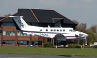 G-OCEG @ EGHH - Cega's Beech 200 arriving at Bourne,outh in April 2008