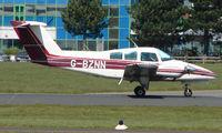 G-BZNN @ EGHH - Beech 76 about to depart Bournemouth