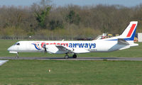G-CDEA @ EGHI - Eastern Airways Saab 200 backtracking to the take-off point at Southampton