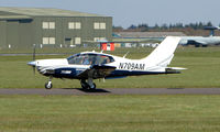 N709AM @ EGHH - Socata TB21GT  prepares to depart Bournemouth