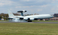 ZH105 @ EGHH - One of two AWACS E3 Sentries to land within the hour - breaking the monopoly of the local General Aviation scene