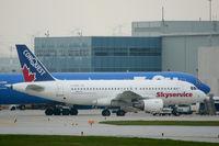C-GTDT @ CYYZ - Skyservice A.319 at Toronto - by Steve Hambleton