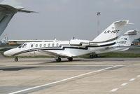 LN-HOT @ EBBR - readdy to leave General Aviation apron (Abelag) - by Daniel Vanderauwera