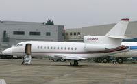 CS-DFB @ EGGW - Netjets Europe Falcon 900 on Luton Stand 71 - by Terry Fletcher