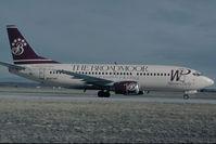 N947WP @ KCOS - Western Pacific Boeing 737-300