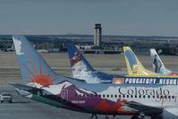 N951WP @ KCOS - Western Pacific Boeing 737-300