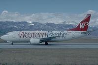 N960WP @ KCOS - Western Pacific Boeing 737-300