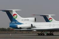 EY-85466 @ SHJ - Tajikistan Airlines Tupolev 154