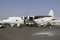 RA-11766 @ SHJ - United Nations Antonov 12
