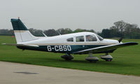 G-CBSO @ EGBK - a visitor to the Sywell GA scene on Tiger Moth Fly-in Day in May 2008