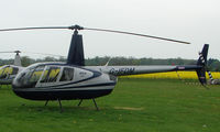 G-IFDM @ EGSF - Robinson R44 Raven at Peterborough Connington