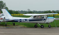 G-BNJB @ EGSF - Cessna 152 at Peterborough Connington