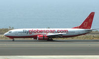 G-CEJO @ GCTS - Globespan B737 touchs down on Teneife South Runway 08