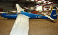 G-CJZE - A recent addition to the British Register at Needwood Forest Gliding Centre - by Terry Fletcher