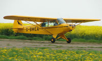 G-BMEA - Piper Cub lifting off from Spanhoe