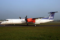 LN-RDF @ EXT - At Flybe H.Q. Exeter for maintenance or change of identity? - by William John Morris
