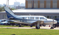 G-BEZL @ EGMC - Piper Pa31 , northside at Southend Airport