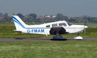 G-FMAM @ EGMC - Piper Pa-28-151 awaits instruction from the Southend Tower