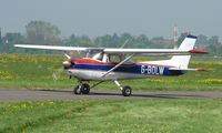 G-BOLW @ EGMC - Cessna 152 taxies out at Southend