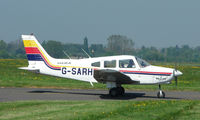 G-SARH @ EGMC - Piper visitor to Southend from Shoreham