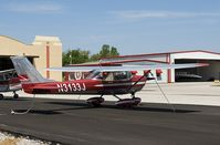 N3133J @ KRVS - Cessna 150G in bare metal and red. - by Steven Ables