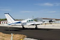 N8151M @ KRVS - White, blue, and silver Cessna 310 tied down at KRVS. - by Steven Ables