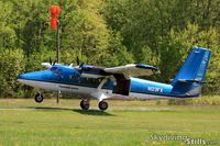 N123FX @ 5NY5 - Twin Otter touches down at Skydive The Ranch, Gardiner, NY. - by Dave G