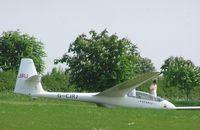 G-CJRJ @ XBID - PZL-Bielsko SZD-50-3 Puchacz at Bidford - by Simon Palmer