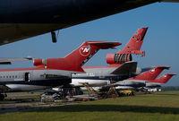 N290US @ KMEB - ex Northwest Boeing 727-200