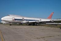 N602PR @ KMEB - ex Northwest Boeing 747