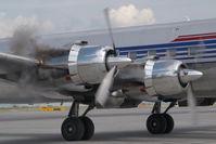 N996DM @ VIE - Red Bull Douglas DC6