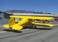 N1185V @ SZP - 1944 Beech D17S STAGGERWING, P&W R-985 Wasp Jr. 450 Hp - by Doug Robertson