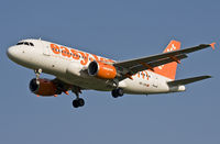 HB-JZN @ EBBR - Swiss EasyJet with (as usual TWO central emergency exit doors) on short final rwy 02. - by Philippe Bleus