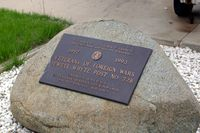 68-8223 - Plaque in front of the plane - by Glenn E. Chatfield