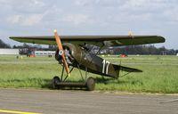 N111EV @ EBAW - Stampe-Vertongen Museum.Outdoor for an engine run.Replica Fokker D.VIII - by Robert Roggeman