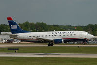 N516AU @ CLT - US Airways Boeing 737-300