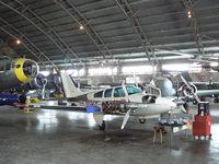 N5793K @ FTW - At Meacham Field - in the Vintage Flying Museum hanger
