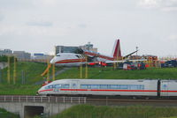 N704CK @ BRU - Kalitta 747-200 overrun the runway at BRU