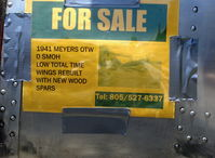 N34301 @ SZP - 1941 Meyers OTW biplane, Warner Super Scarab 145 Hp- 0 SMOH, wings rebuilt with new wood spars. Sold to new owner-phone number no longer valid. - by Doug Robertson