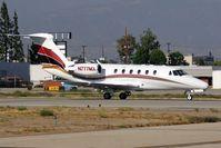 N777MX @ VNY - Duke Woody Aviation LLC 1984 Cessna 650 Citation III N777MX starting takeoff roll on RWY 16R. - by Dean Heald