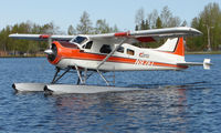 N97EL @ LHD - Enchanted Lake's DHC2 Beaver prepares to take off from Lake Hood
