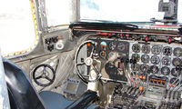 N779TA @ FAI - A view inside the cockpit of this classic airliner