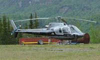 N357CH @ AK59 - Eurocopter AS350B at the remote King Ranch in Alaska