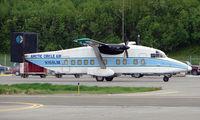 N168LM @ ANC - Arctic Circle Air's Shorts 330 at home base in Anchorage