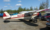 N3740Z @ 2X2 - In Alaska I like the way all transport park in common areas - here the Willow Air Cub is parked next to cars - by Terry Fletcher