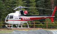 N161EH @ 7AK7 - Era Helicopters AS350 BR Ecuriel at home base on the cliff top over the Nenana River