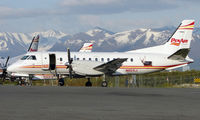 N110XJ @ ANC - Saab340 on Penair Ramp at the end of the day