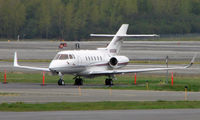 N885M @ ANC - Hawker 800XP on Anchorage South Ramp