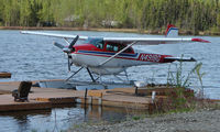 N4918Q @ 2X2 - Cessna A185F on floats at Willow Seaplane Base - by Terry Fletcher